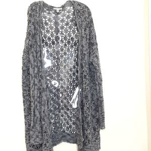 American Eagle Outfitters Gray Cardigan- M